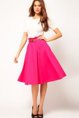 ASOS Collection Asos Belted Full Midi Skirt - Lyst