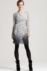 Cynthia Steffe Betta Long Sleeve Printed Dress - Lyst
