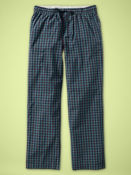 Gap Orchard Plaid Pj Bottoms in Blue for Men (navy plaid) - Lyst