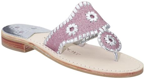 Jack Rogers Glitter Navajo In Pink Pink Silver Lyst