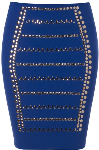 Jane Norman Studded Mini Skirt - Lyst