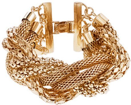 J.crew Woven Bangle in Gold (antique gold) - Lyst
