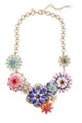 J.Crew Flower Lattice Necklace
