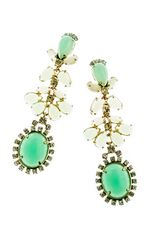 J.Crew Cabochon Fan Earrings