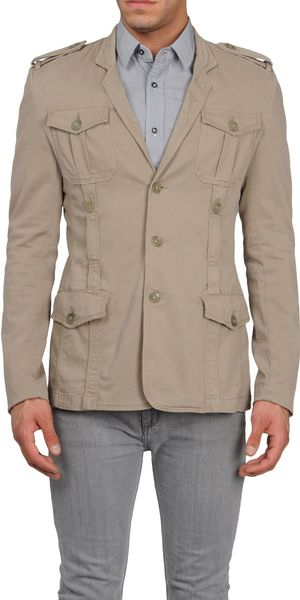 Just Cavalli Blazer in Beige for Men (brown) - Lyst
