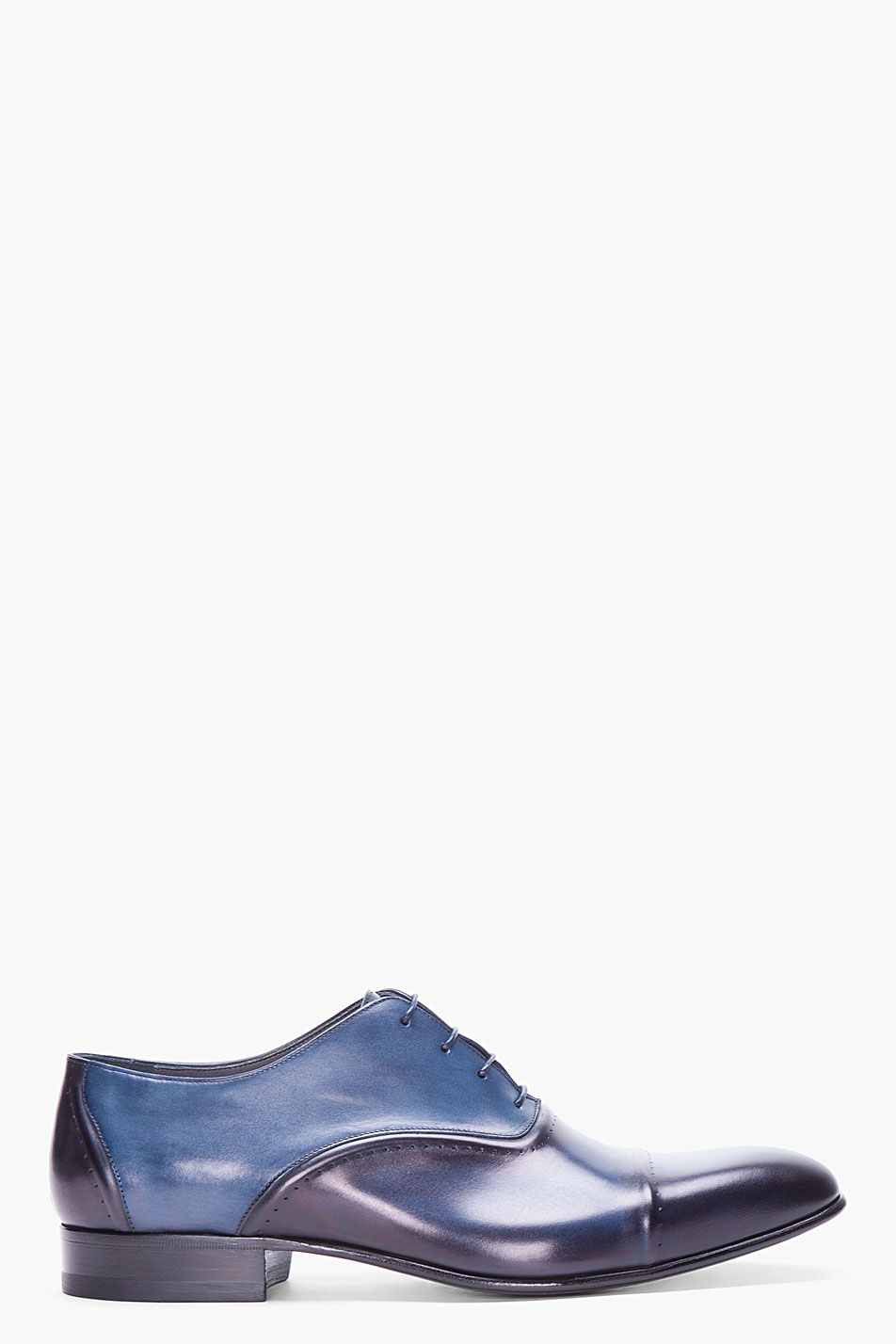 lanvin navy toesade dress shoes in blue for navy lyst