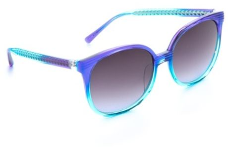 Matthew Williamson Oversized Retro Sunglasses in Blue (sea) - Lyst