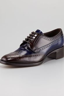 Prada Bicolor Lace-Up Loafer - Lyst