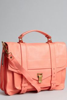Proenza Schouler Neon Coral Leather Ps 1 Large Satchel - Lyst