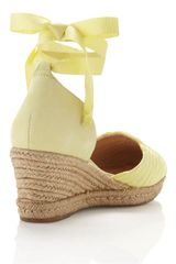 Schutz Anklewrap Espadrille Lime Green in Yellow (lime green) - Lyst