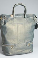 See By Chloé Moss Leather Large Convertible Tote in Gray (moss) - Lyst