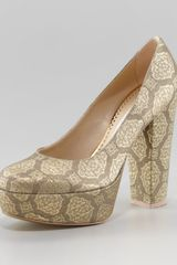 Stella McCartney Brocade Platform Pump - Lyst
