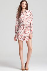 Thakoon Addition Shirt Dress Floral Print Long Sleeve Drawstring - Lyst