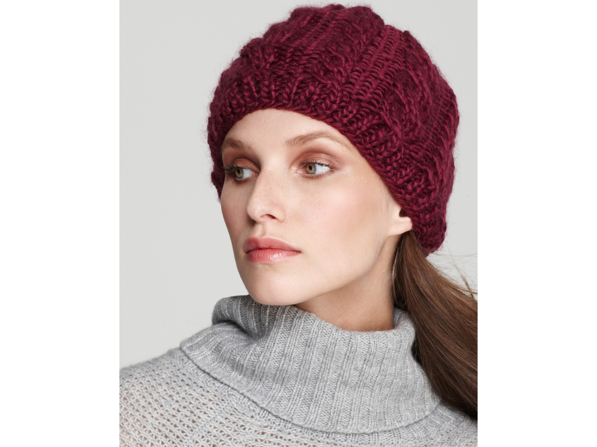 Lyst - The North Face Fuzzy Cable Beanie in White 913aaf0f270