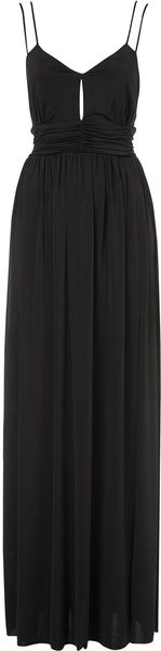 Topshop Slinky Triangle Maxi Dress in Black - Lyst