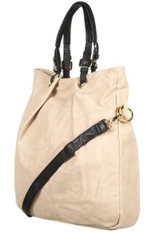 Topshop Faux Nubuck Shopper Bag - Lyst