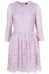 Topshop Lace Peter Pan Dress - Lyst
