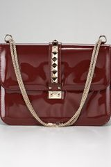 Valentino Vernice Patent Leather Flap Bag  - Lyst