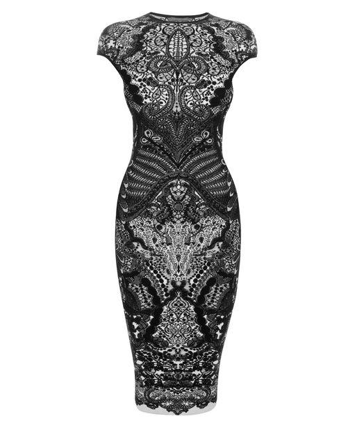 Lyst Alexander Mcqueen Black Victorian Puckering Lace