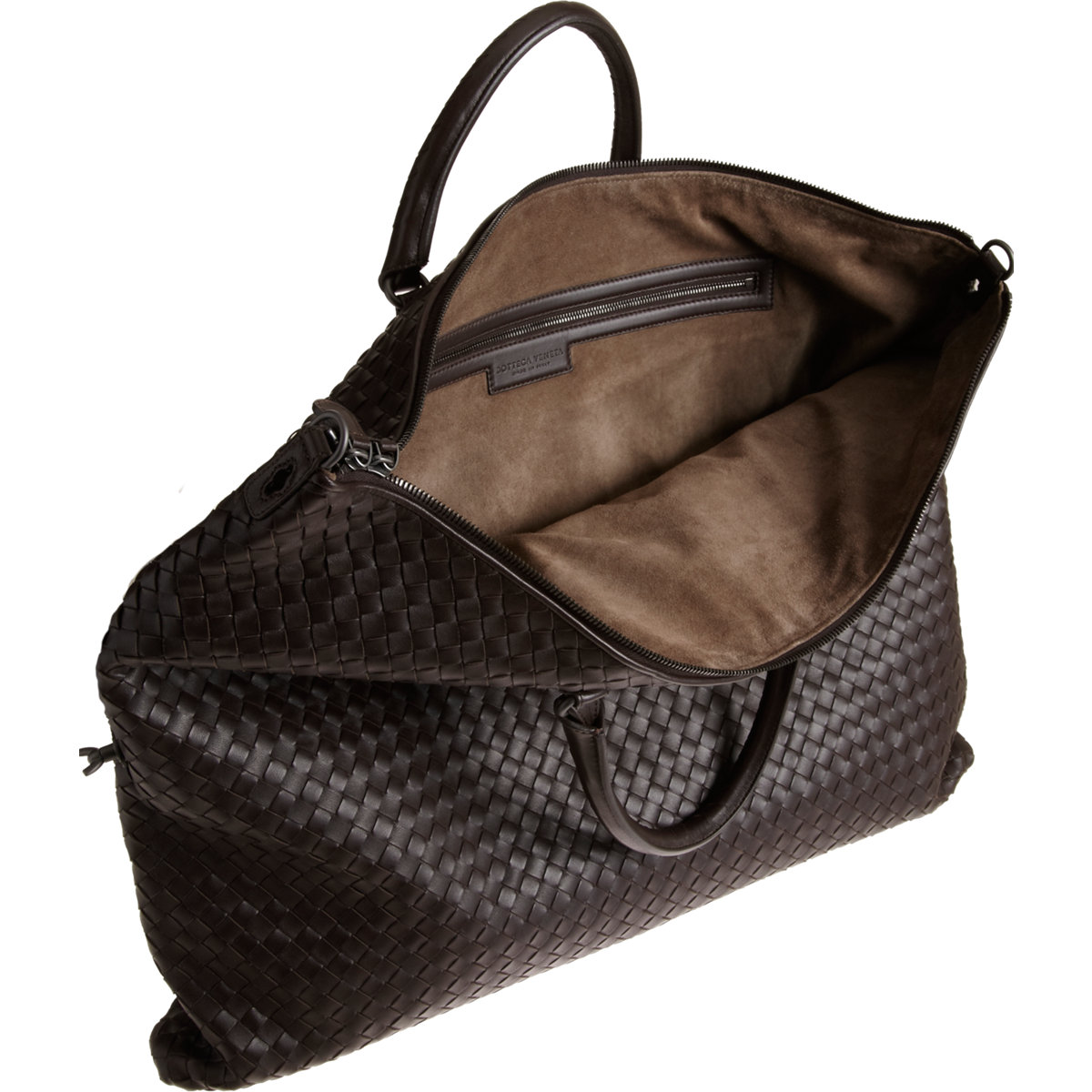 c828fdc7c426 Bottega Veneta Intrecciato Convertible Bag in Gray - Lyst