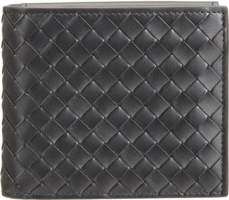 Bottega Veneta Intrecciato Id Billfold Wallet in Black for Men (nero) - Lyst