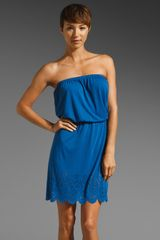 C&c California Laser Cut Bandeau Dress - Lyst
