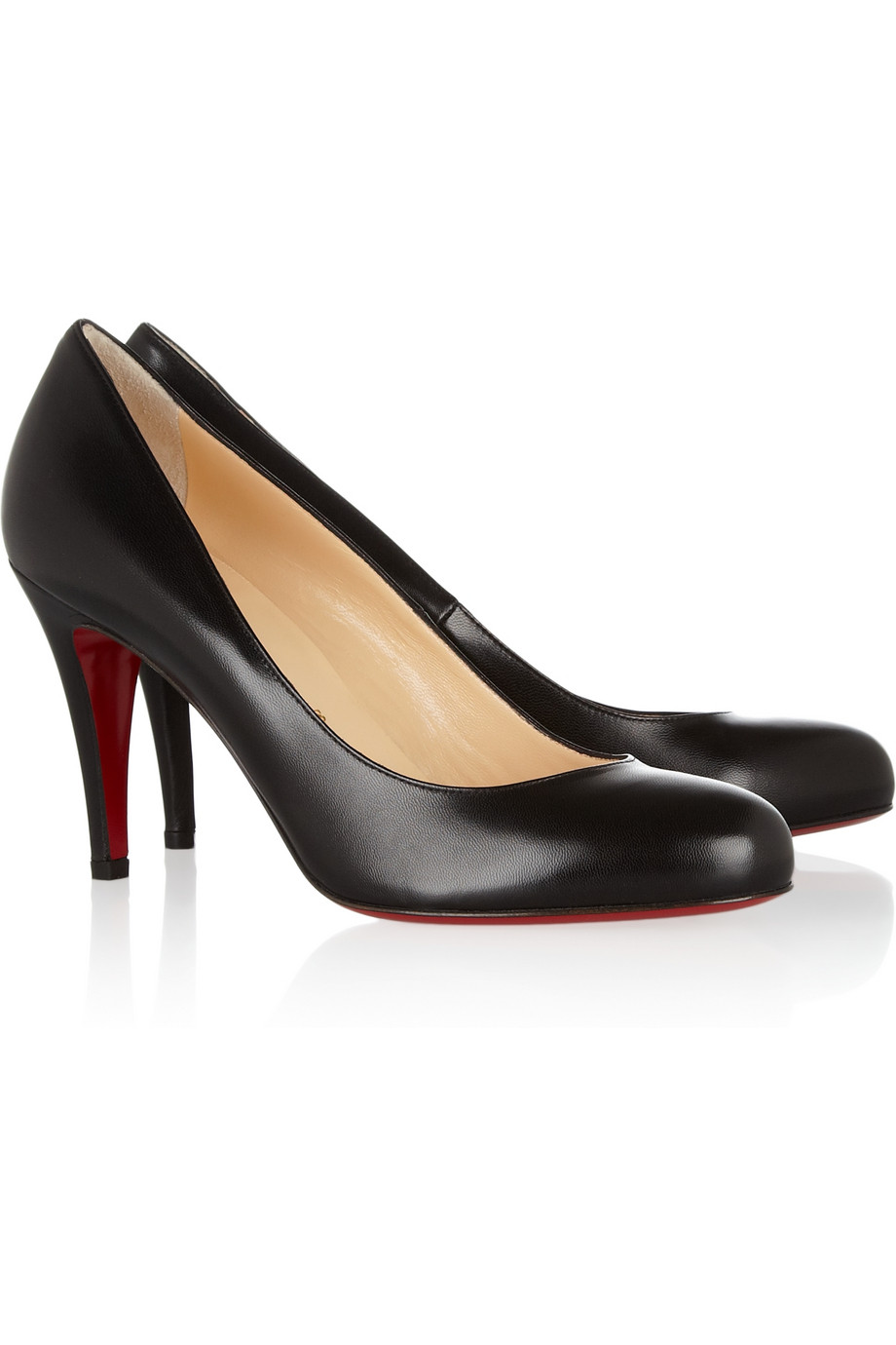 Lyst Christian Louboutin Ron Ron 85 Leather Pumps In Black
