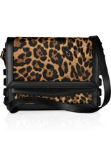 Christian Louboutin Farida Leopard-Print Calf Hair and Leather Shoulder Bag - Lyst