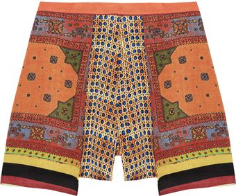 Clover Canyon Printed Crepe De Chine Shorts - Lyst