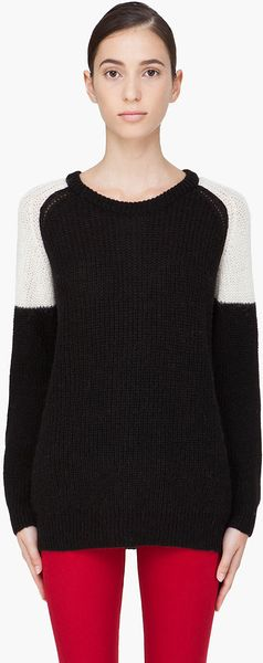 Iro Alpaca Blend Piper Sweater in Black - Lyst