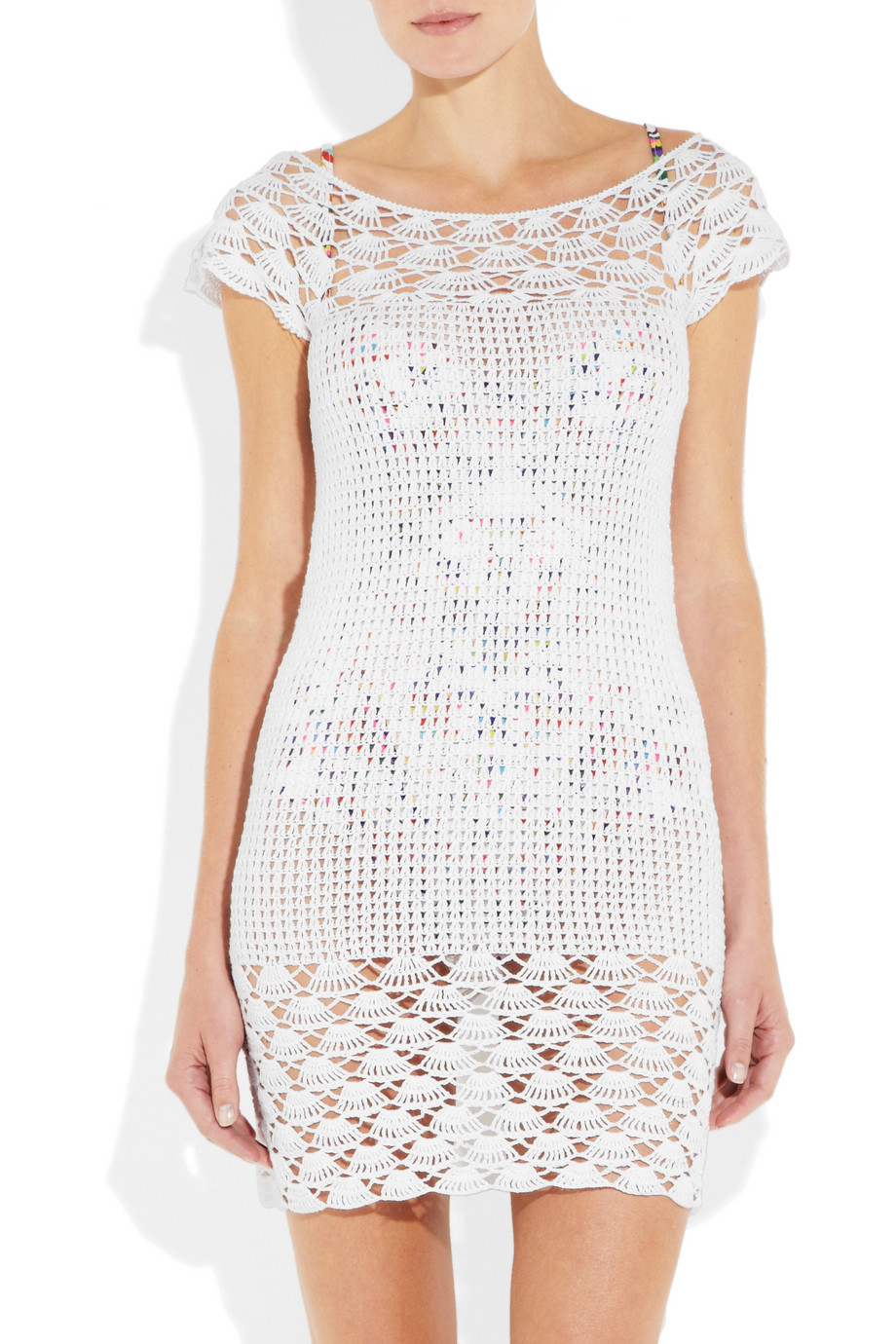 Lisa Maree A Suitable Fancy Crocheted Cottonblend Dress in Natural ...
