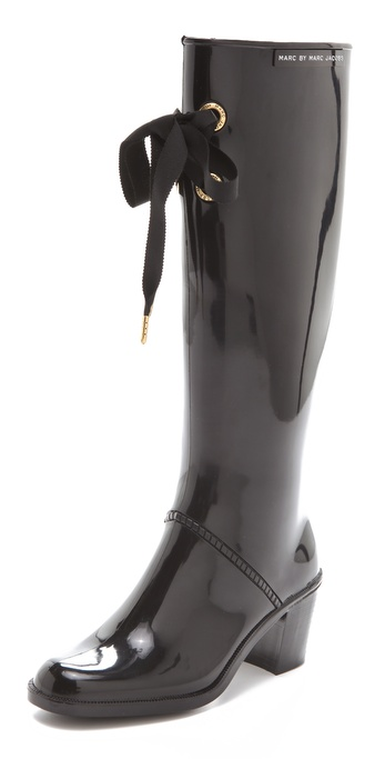 Marc By Marc Jacobs Rain Boots In Black Lyst