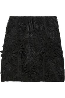 Marni Embroidered Organza Mini Skirt - Lyst