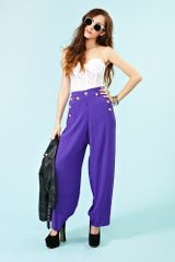 Nasty Gal Just Cruisin Palazzo Pants in Purple - Lyst