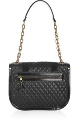 Proenza Schouler Ps1 Mini Messenger Quilted Leather Shoulder Bag in Black - Lyst