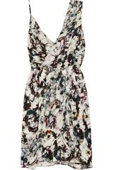 Rebecca Minkoff Dehlia Printed Silk Crepe Dress