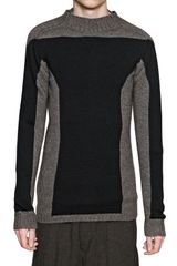 Rick Owens Intarsia Wool Knitted Sweater - Lyst