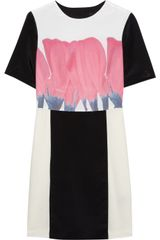 Tibi Printed Silk Crepe De Chine Mini Dress - Lyst