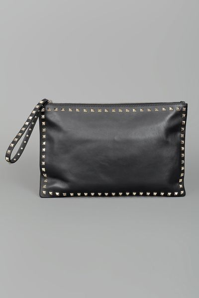 Valentino Rock Star Studded Clutch  in Black - Lyst