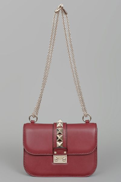 Valentino Rock Star Studded Flap Bag  in Red - Lyst