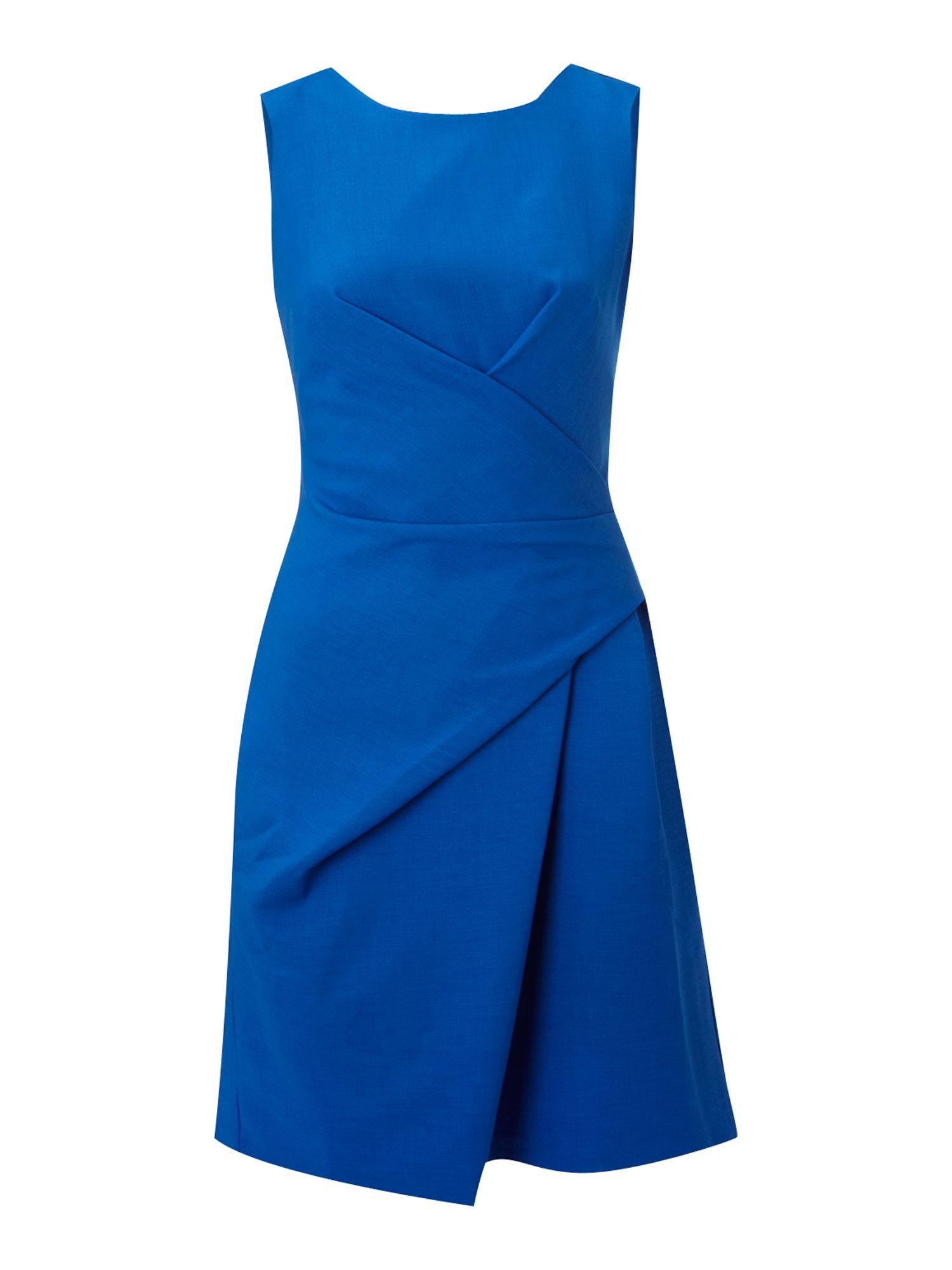 Vivi Boutique Vivi Boutique Ruched Shift Dress In Blue