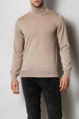 Yves Saint Laurent Merino Rol Neck Sweater - Lyst