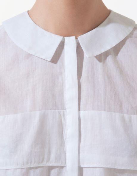 Zara Peter Pan Collar Blouse 3
