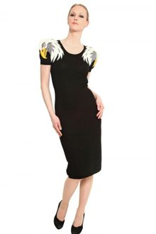 JC de Castelbajac Eagle Hand Made Intarsia Wool Knit Dress - Lyst