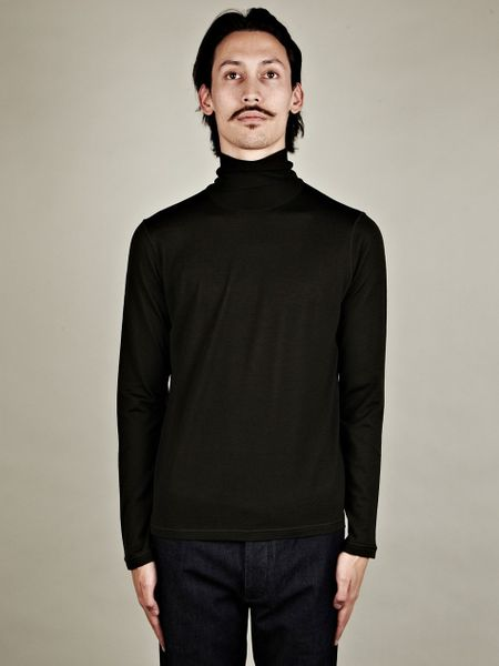 Jil Sander Mens Polo Neck Knit in Green for Men - Lyst