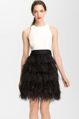 Milly Sasha Feathered Dress