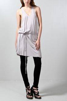 Oak Gathered Short Dress Grey - Lyst