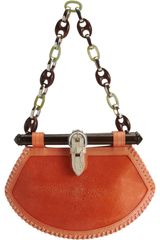 Proenza Schouler Tiki Clutch Stingray in Orange (silver) - Lyst
