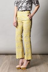 Stella McCartney Vandella Cropped Trousers - Lyst