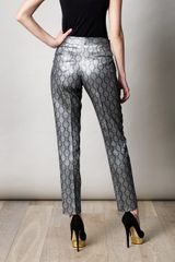 Stella Mccartney Alfred Brocade Trousers in Silver - Lyst